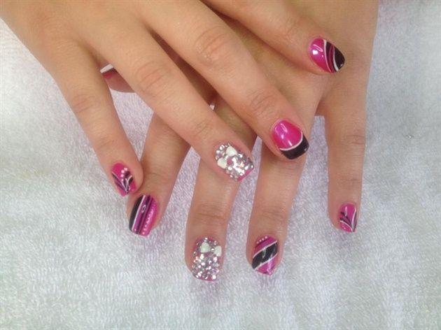 pink black - Nail Art Gallery
