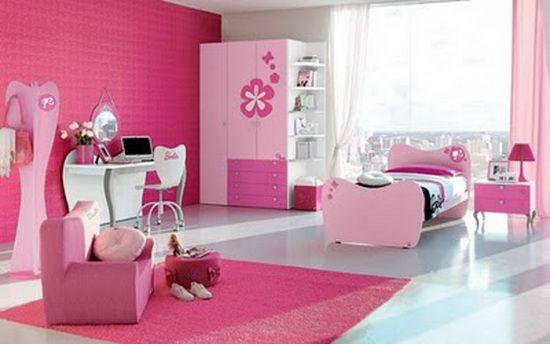 Modern Pink Teen Girls Bedroom Decorations Ideas Pinky girl ...