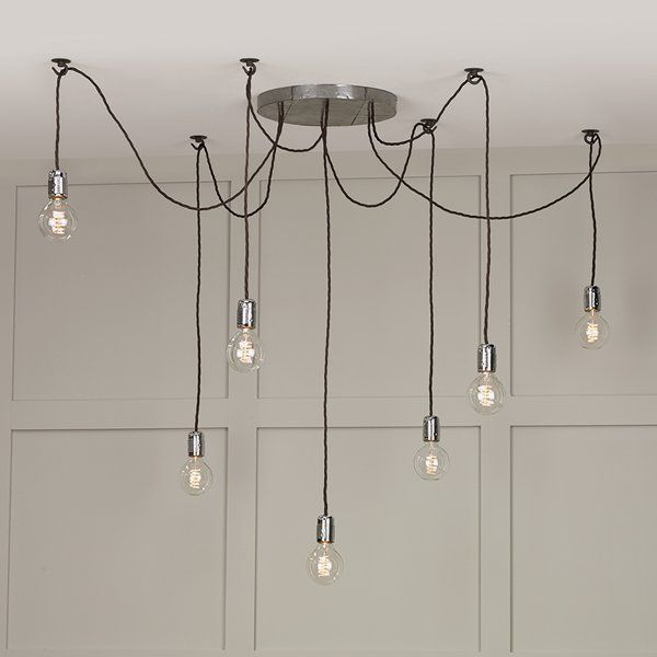 Multiple hanging bulb lights or cluster lights make a striking the david hunt huckleberry 7 light cluster as featured by dar is a distinctive aloadofball Image collections