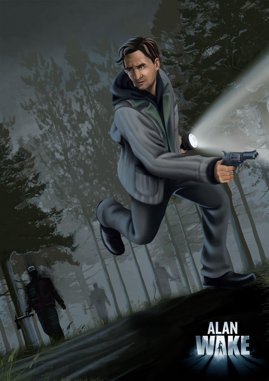 Alan Wake Digital Fan Art Horror video games, Fan art