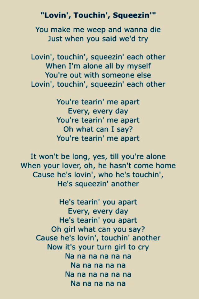 Lyric loving touching squeezing lyrics : Journey | Song Lyrics Four | Pinterest | Steve perry, Songs and ...
