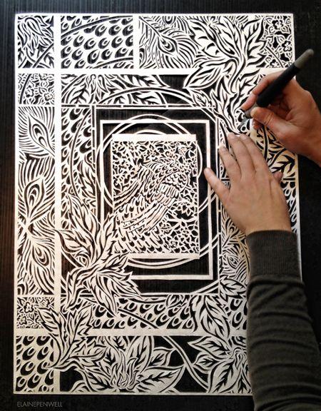 Paper cut art by Elaine Penwell | Paper cutting and Cuttings