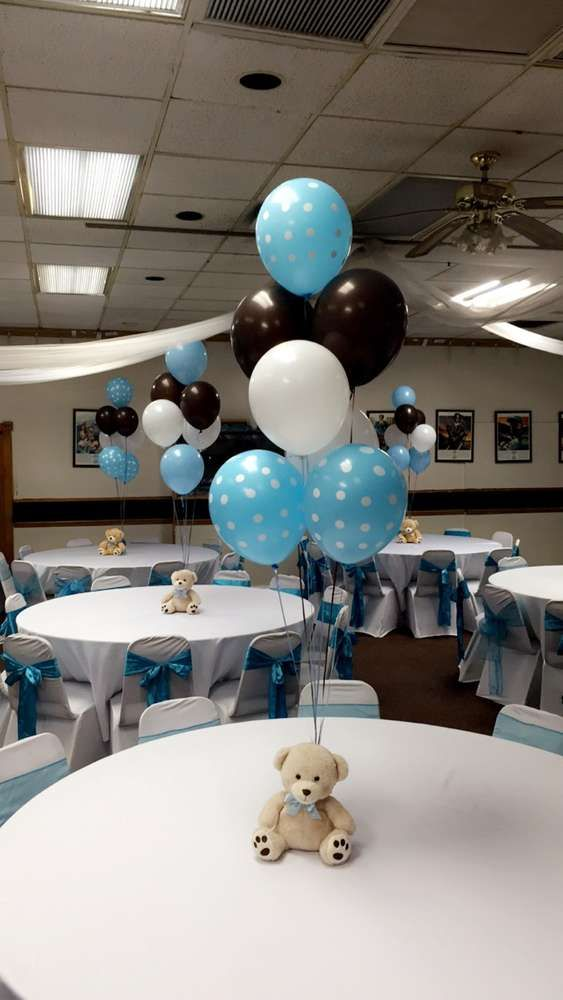 Teddy Bears Baby Shower Party Ideas Boy Baby Shower Centerpieces