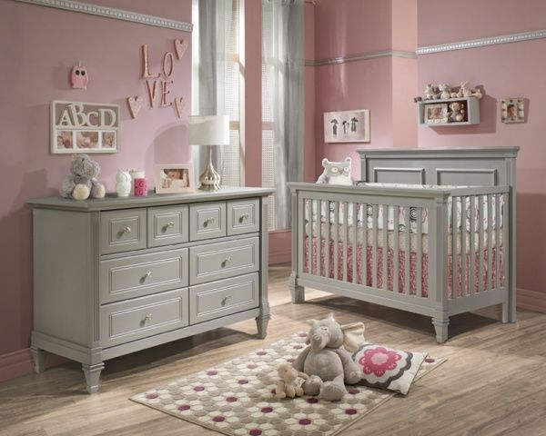 graue m bel babyzimmer rosa wand kanten laminat baybyzimmer pinterest kinderzimmer baby. Black Bedroom Furniture Sets. Home Design Ideas