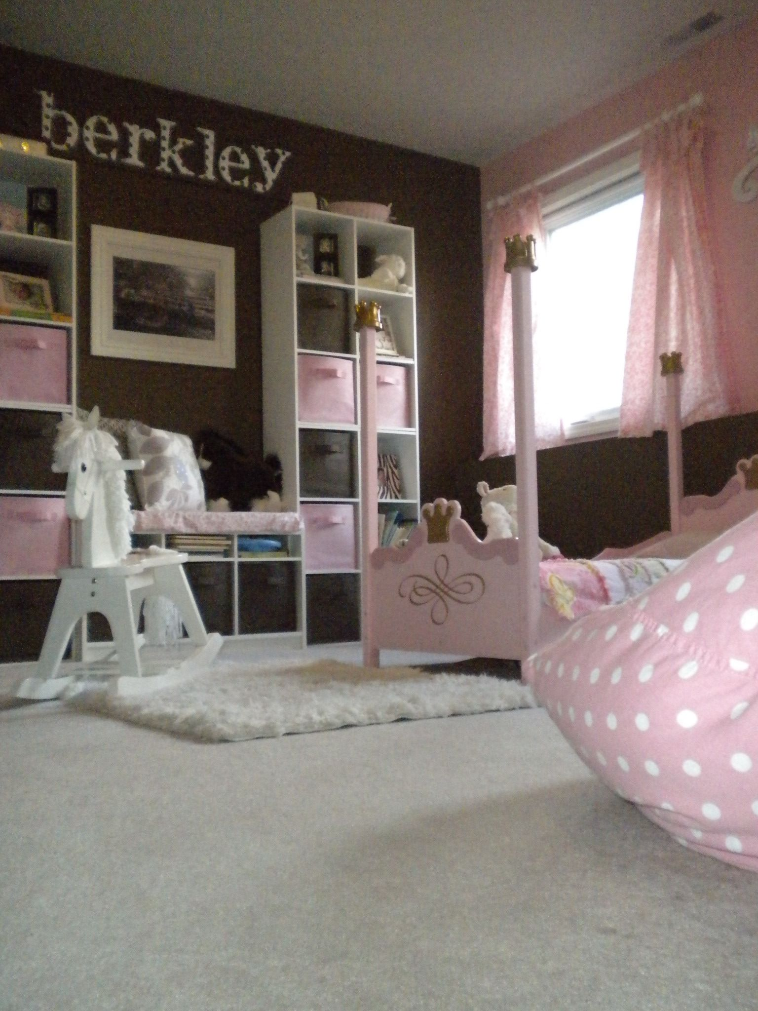 My Daughter 39 S Pink And Brown Little Girls Princess Room