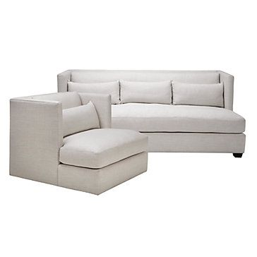 Chic bo Pierce Natural Sofa & Swivel Chair