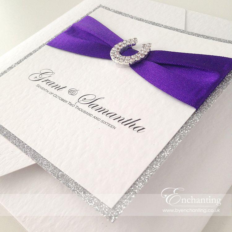 Purple Sparkly Wedding Invitations | The Aurora Collection ...