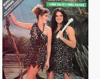 Caveman Cavewoman Tarzan Halloween Couples Costume Sewing Pattern