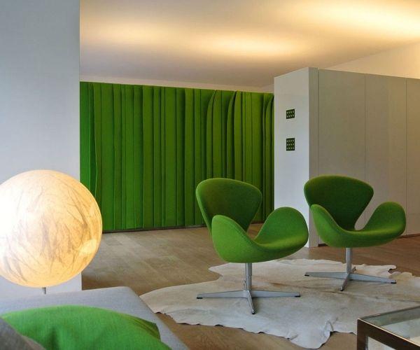 designermobel ideen monica armani, designermöbel monica armani wohnideen grasgrün wohnzimmer | filz, Möbel ideen