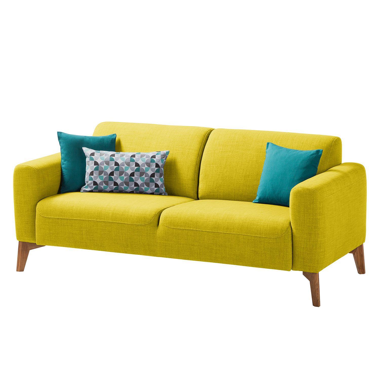 Sofa Bora II 2 5 Sitzer Webstoff Stoff Milan Gelb Studio