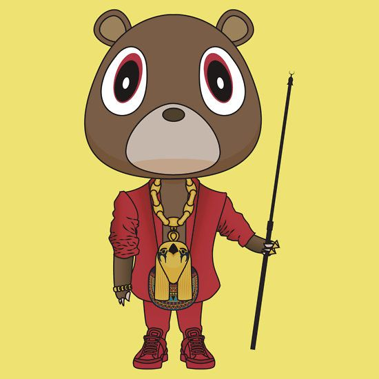 My Beautiful Dark Twisted Fantasy Dropout Bear By Degausser Beautiful Dark Twisted Fantasy Dark And Twisted Kanye West Bear