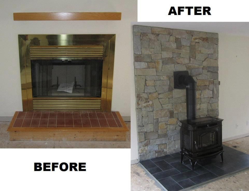 High Efficiency Fireplace Part - 28: Drafty Fireplace Was Removed And We Replaced It With A High Efficiency Wood  Stove, With