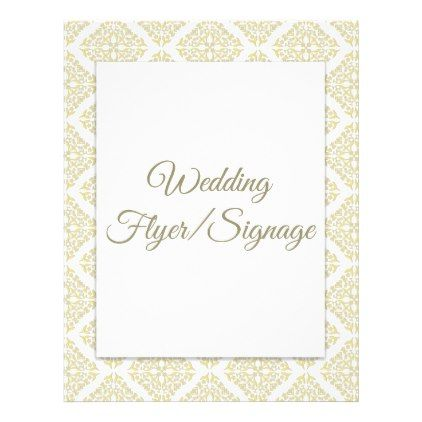 Gold Filigree Blank Wedding Flyer Gold weddings, Weddings and - wedding flyer