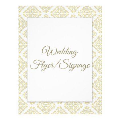 Gold Filigree Blank Wedding Flyer Gold weddings, Weddings and - wedding flyer