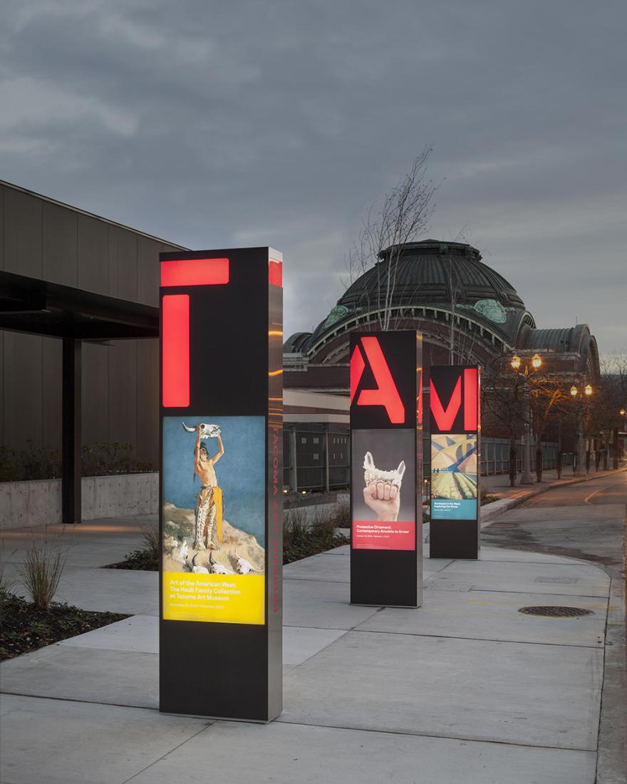Tacoma Art Museum Signage And Wayfinding - Studio