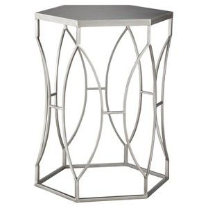 Threshold Metal Accent Table Silver But Paint It Gold Metal Accent Table Silver Accent Table Accent Table