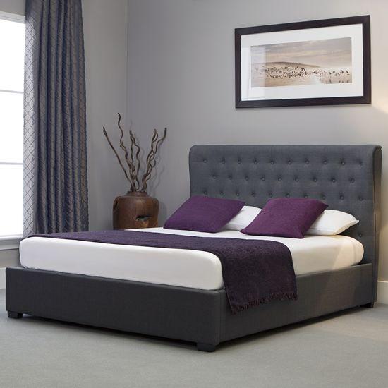 Enjoyable Versatile Ottoman Storage Bed In Grey Linen Fabric Finish Theyellowbook Wood Chair Design Ideas Theyellowbookinfo