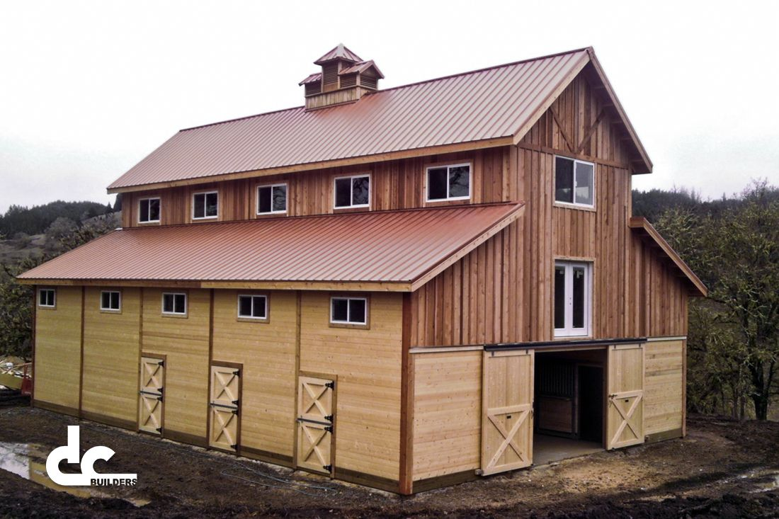 40x60 monitor barn by dc building all wood custom monitor for Monitor style barn plans