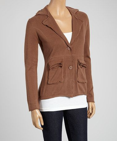 Love this Taupe Pocket Jacket by Avalin on #zulily! #zulilyfinds