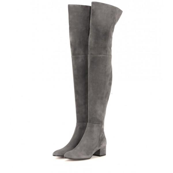 boots low heel knee high
