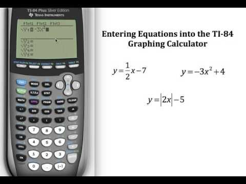 Entering Equations Into The Ti 84 Graphing Calculator