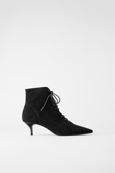 Buty Damskie Zara Polska Schnurstiefeletten Schuhe Frauen Stiefel