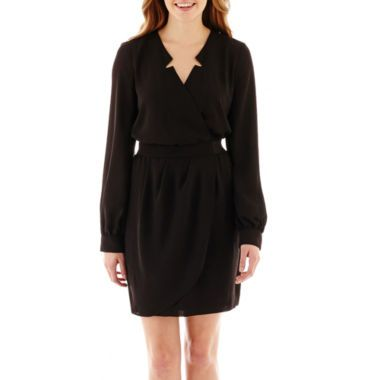 XOXO® Long-Sleeve Shirtdress  found at @JCPenney