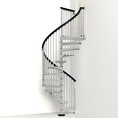 Best Arke Enduro 63 In Galvanized Steel Spiral Staircase Kit 400 x 300