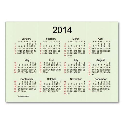 lime cream 52 week calendar business card design from calendars by janz