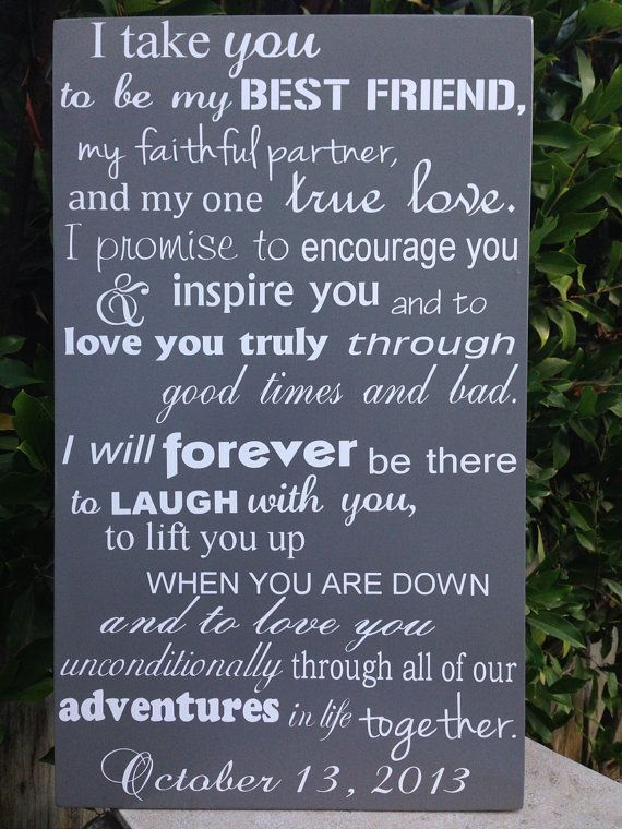 wedding vows wood sign 12 x 20 subway engagement i do reception