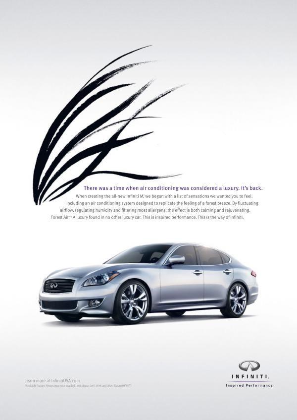 infiniti print ad #infiniti #advertisement #print #ad #air