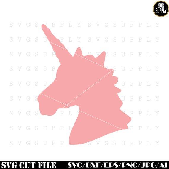 Unicorn Head SVG, Unicorn silhouette svg cut file vinyl