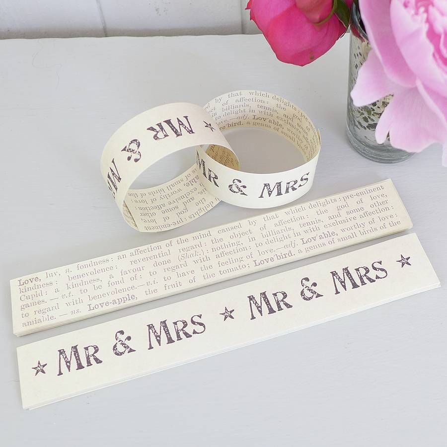 Wedding decorations lilac  mr and mrsu paper chain by lilac coast weddings  notonthehighstreet