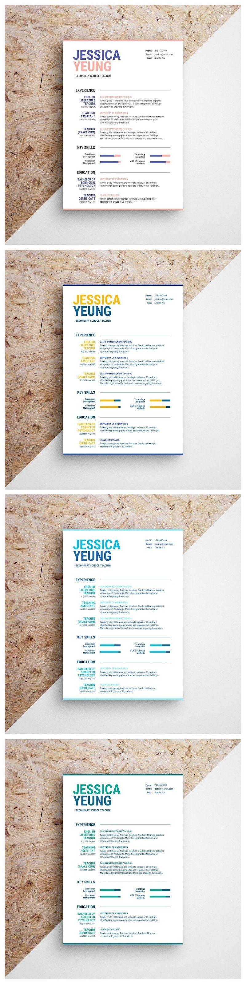 Formal resume resume design template resume design