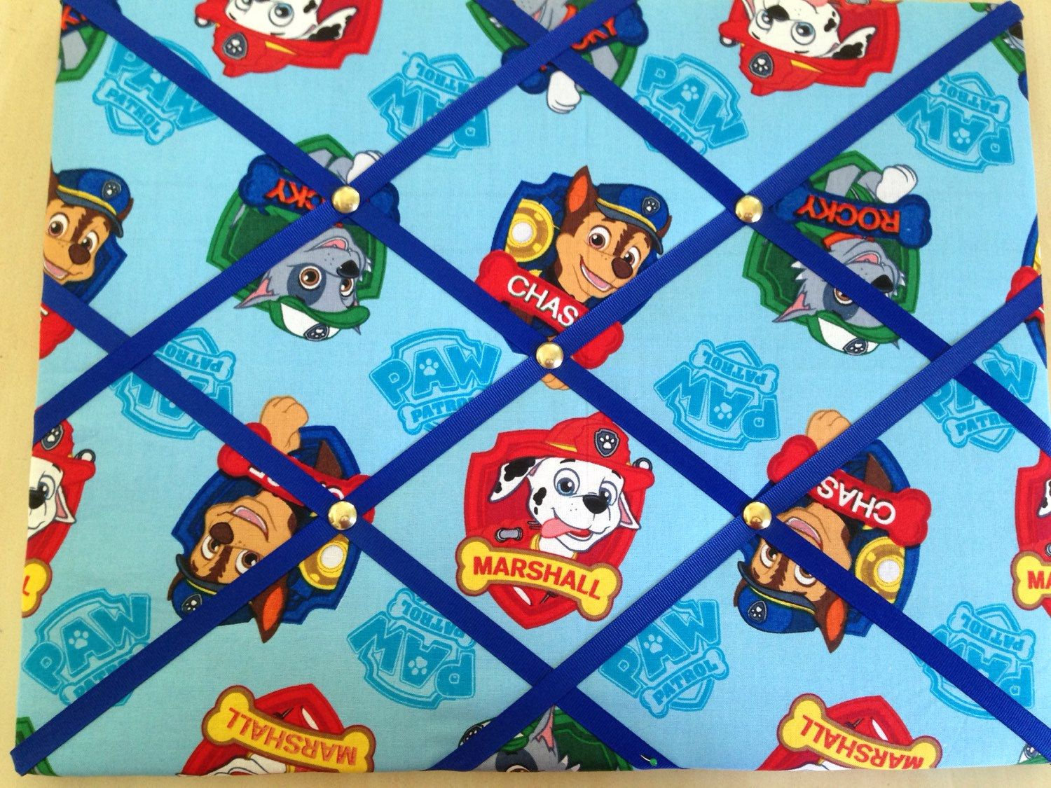 A personal favorite from my Etsy shop https://www.etsy.com/listing/260663811/paw-patrol-blue-red-dogs-puppy-puppies