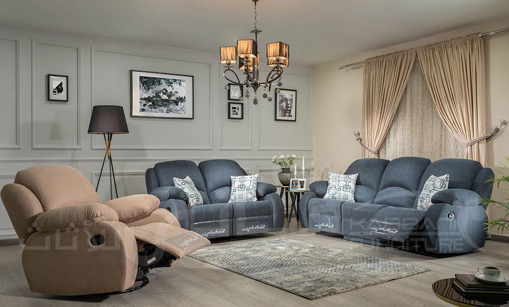 طقم ريكلاينر سابيا بترولي بيج Home Decor Sectional Couch Decor