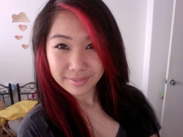 Peekaboo Hair Styles: Red Peekaboo Highlights By Jana Guira