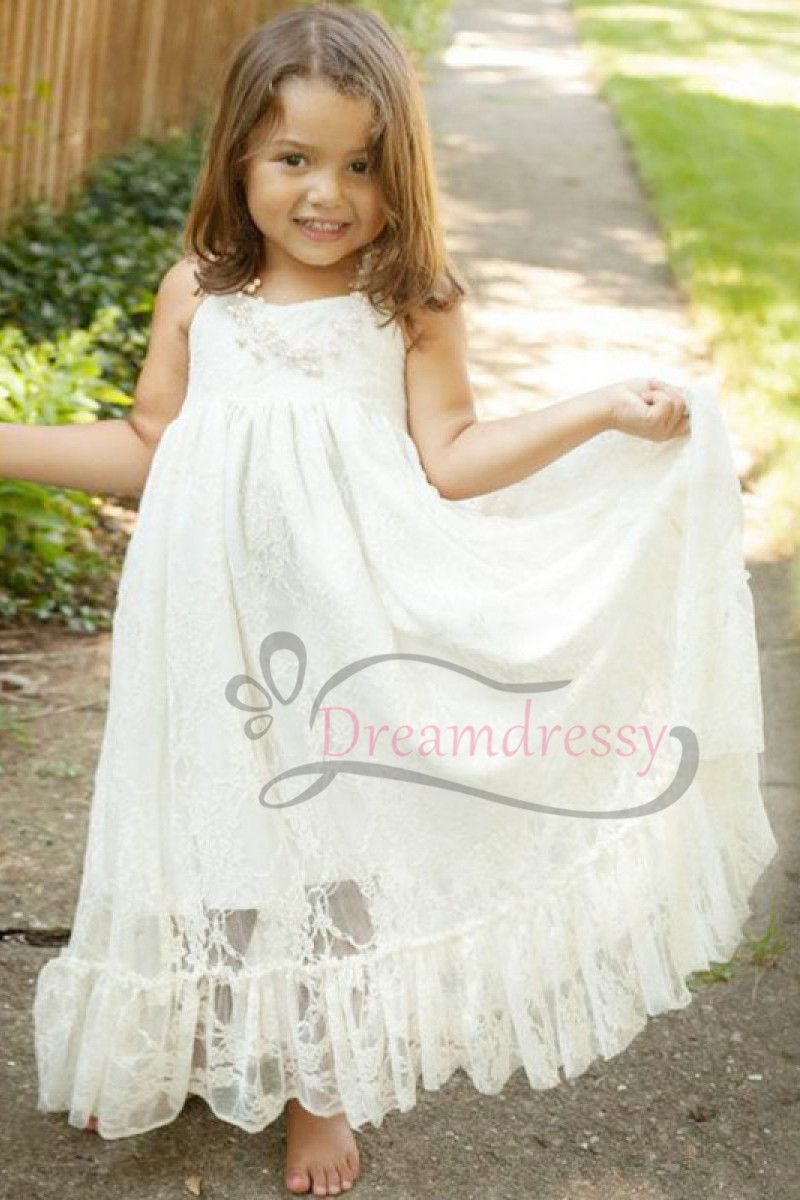 Modest half sleeces white long flower girl dress prom dresses emma