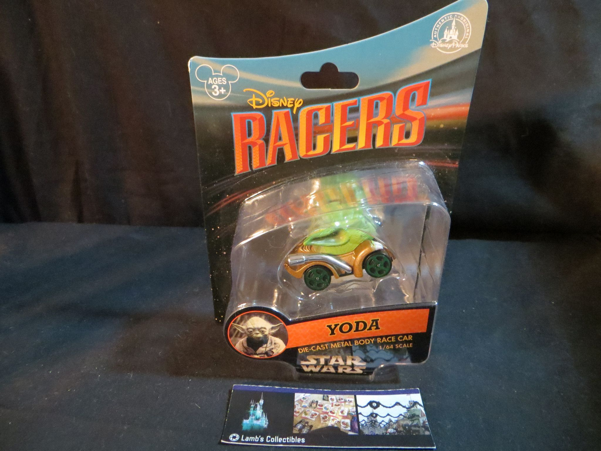 Disney Parks Authentic Yoda Star Wars Racers die-cast cast metal body race car