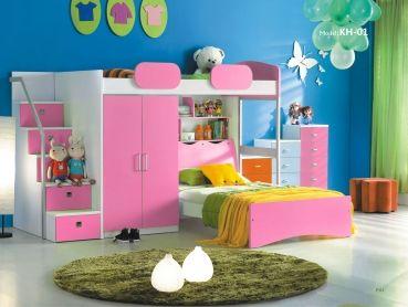 Etagenbett Rosa : Etagenbett oli mit rutsche buche weiss inkl vorhang rosa pink