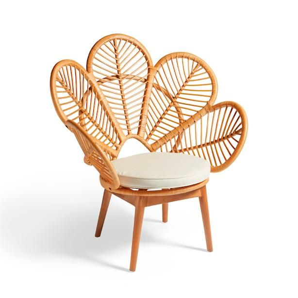 Daisie Rattan Chair Outdoor Setees Floral Chair