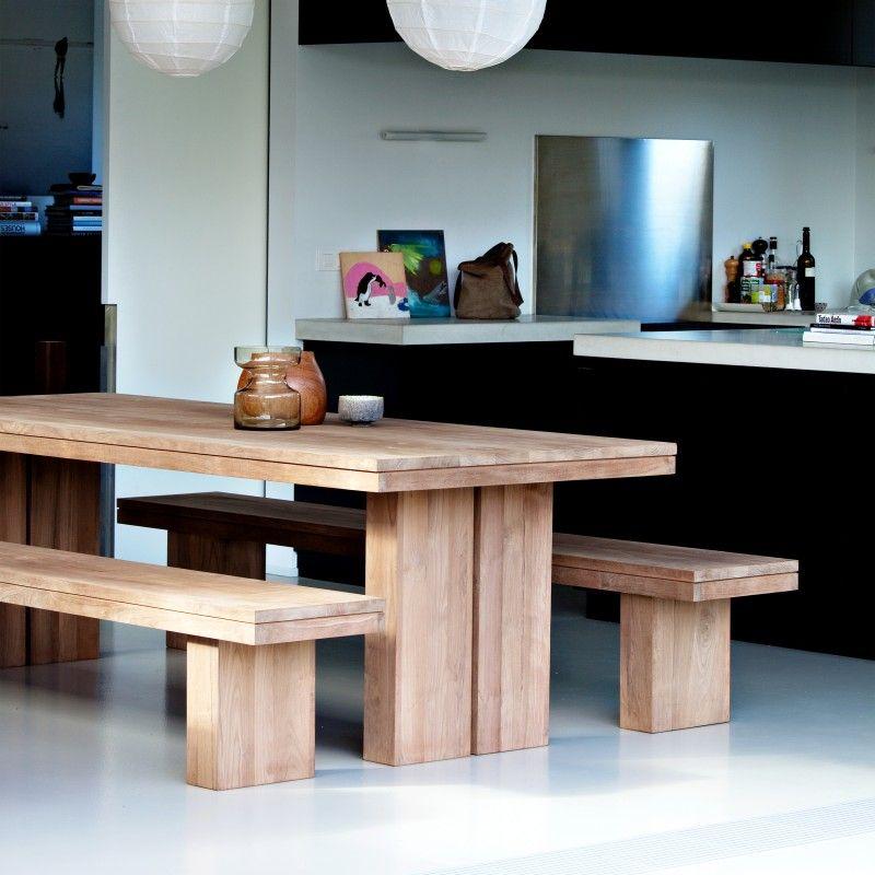 Teakholzmöbel küche  Teak Double Tisch von Ethnicraft bei ikarus.de | * Idea * Raw Edge ...