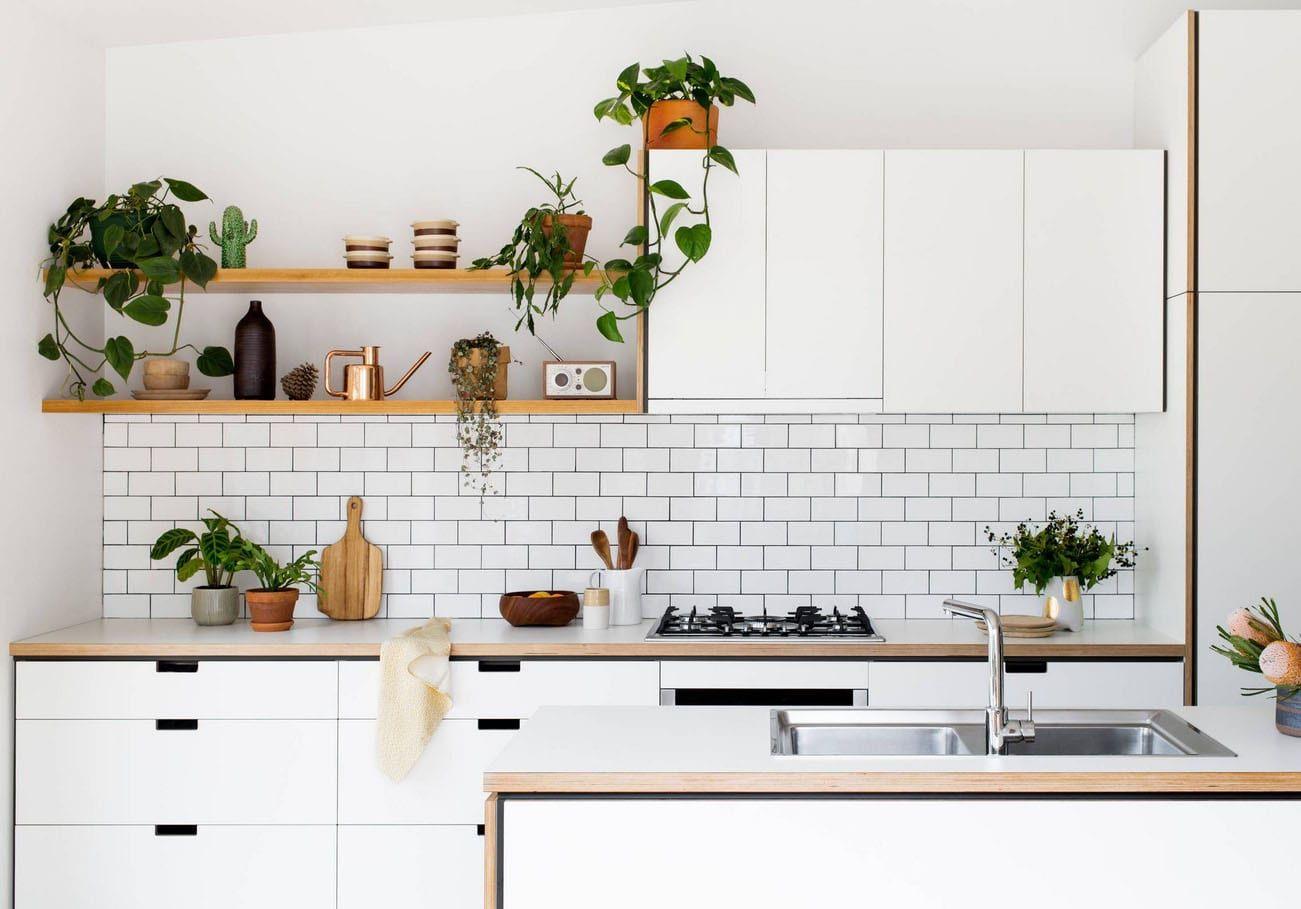 Comment Choisir Son Carrelage De Cuisine cuisine blanche et bois : 25 idées et photos | cuisine