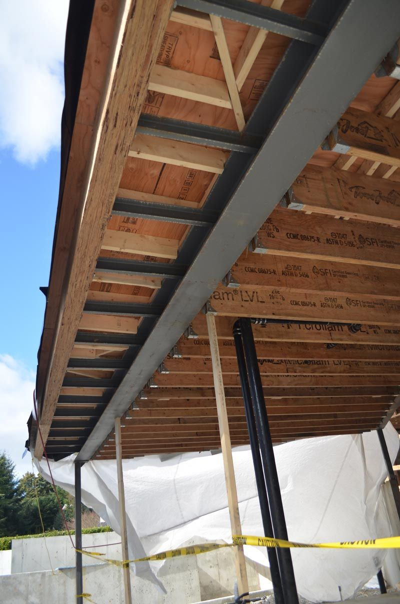 Roof Overhang Steel And Wood Framing Residential