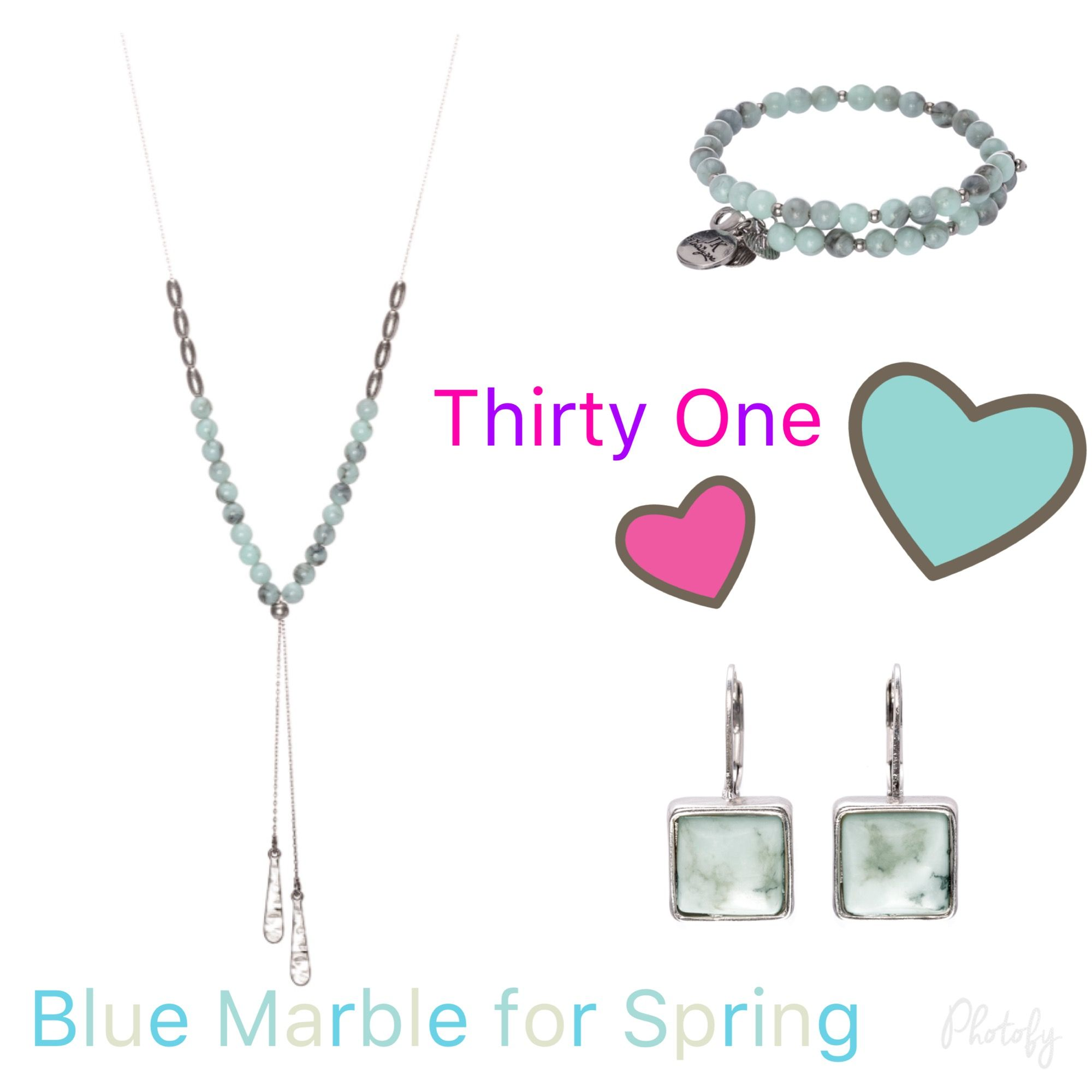 Thirty One Spring Summer 2018 Blue Marble Jewelry Thirty One Gifts Thirty One Thirty One Bags