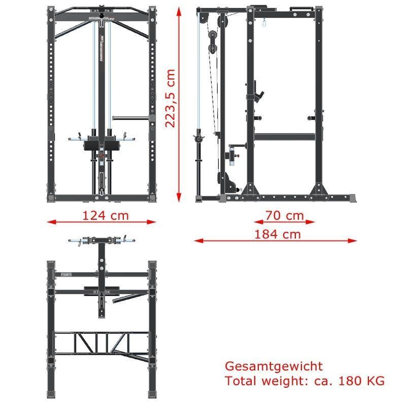 Image Result For Power Weight Rack Dimensions Cm No Equipment Workout Power Rack Gym Rack