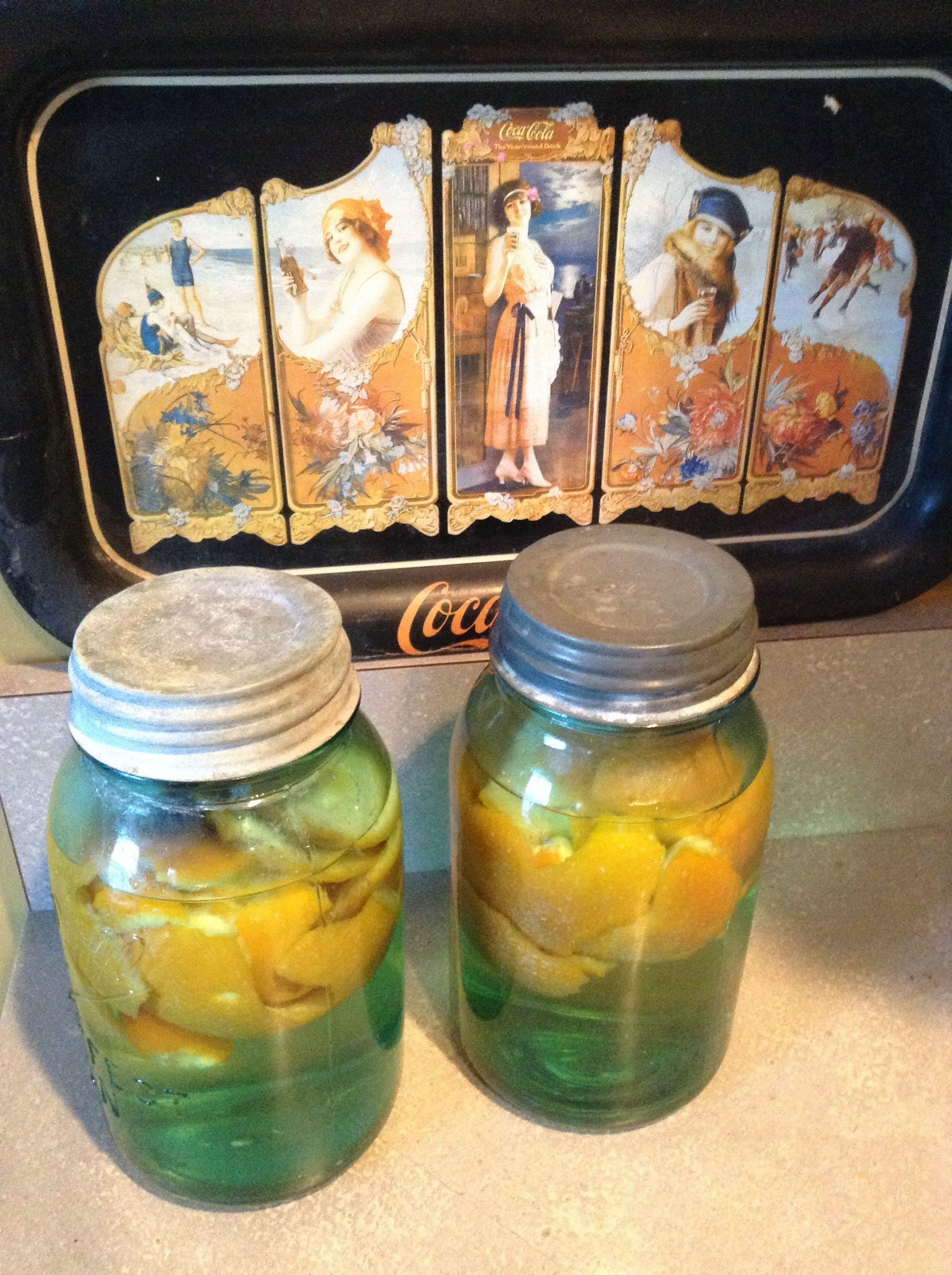 Home made orange vinegar cleaner Vinegar cleaner, Mason