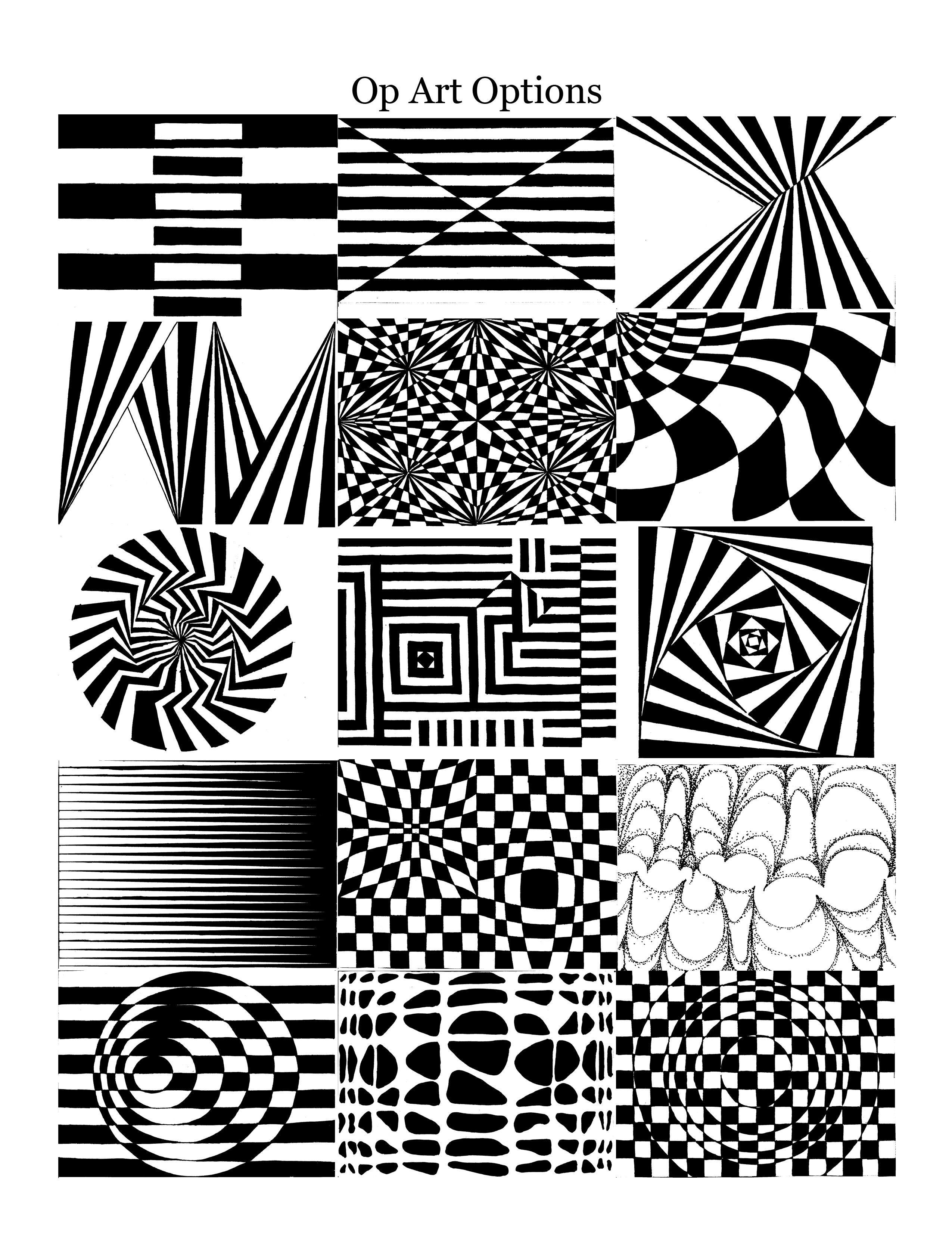 Op Art Worksheet For Students