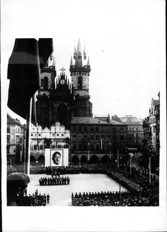 NSDAP rally in Prague on the occasion of the birthday of Adolf Hitler. 20.04.1941.