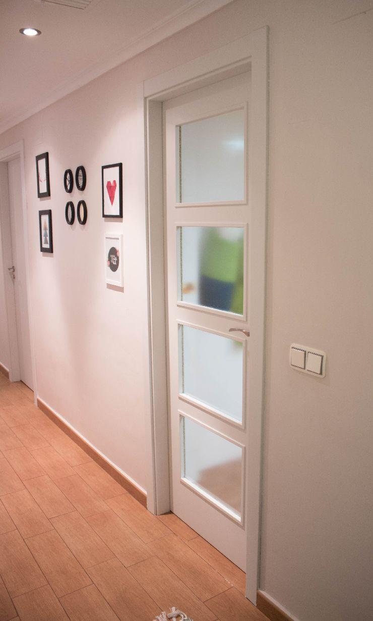Antes y el después de pintar las puertas de casa con Autentico Chalk ...